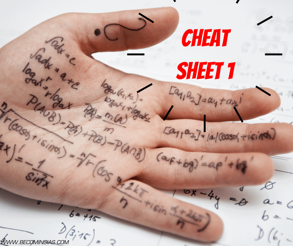 How to prepare for UPSC: CHEAT-SHEET 1