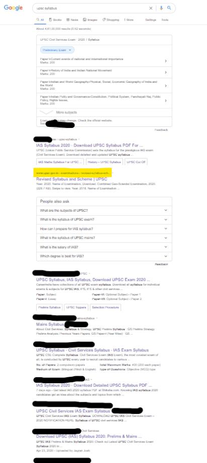 upsc syllabus google search results