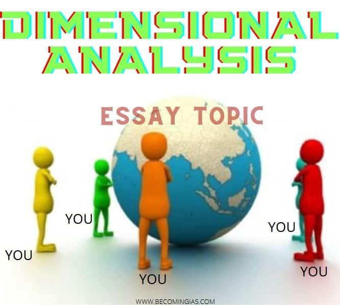 upsc essay dimensional analysis