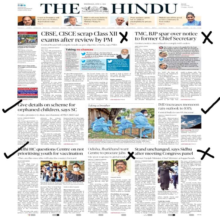 newspaper for upsc selection the Hindu
